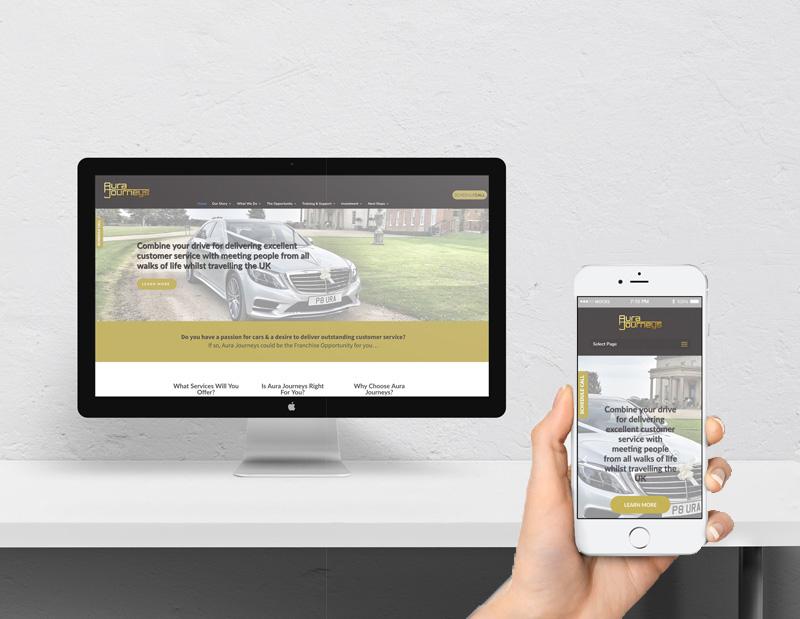 Franchisee Recruitment Website and Content Development Aura Journeys