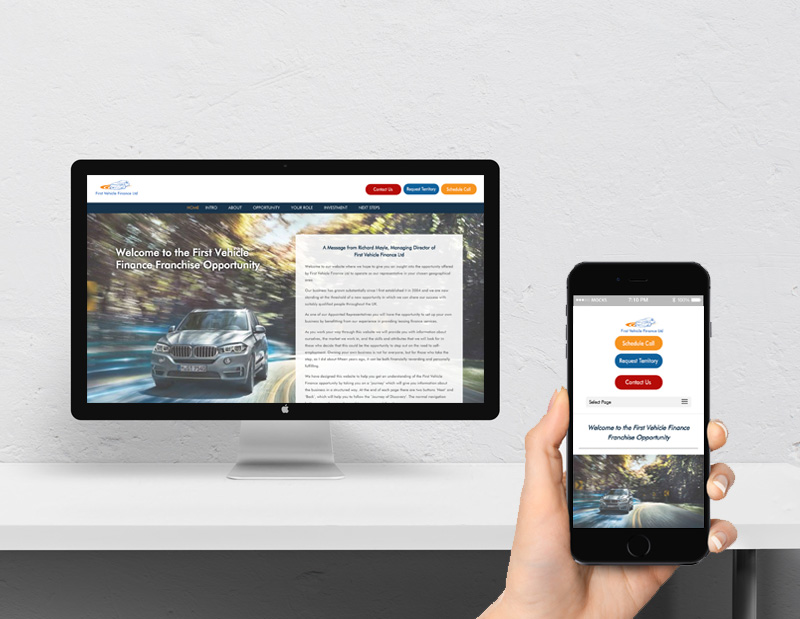 Franchisee Recruitment Website and Content Development First Vehicle Finance